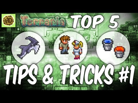 Terraria Top 5 Tips and Tricks   1.3 Tutorial   Glitch   Life Hacks