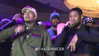 Chris Brown & Usher Perform