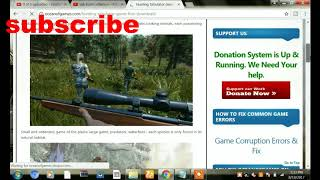 how to download hunting simulator game in pc  in free download