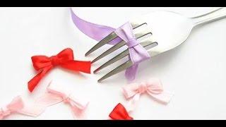 How to: Bow with a fork كيفية عمل فيونكة بشوكة الأكل