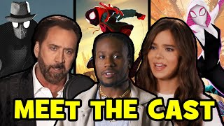 SPIDER-MAN INTO THE SPIDER-VERSE Voice Actors Behind The Scenes - Hailee Steinfeld, Nic Cage
