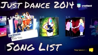 What Songs Are On Just Dance 2014? All / Full Song List Scroll Base Game HD Gameplay Video JD 2014