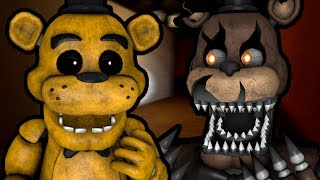GOLDEN FREDDY PLAYS: FNAF 4 Free Roam || RUNNING FROM THE NIGHTMARES!!!