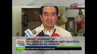 Arrest warrant vs ex-Comelec chairman Andy Bautista, inilabas na ng Senado
