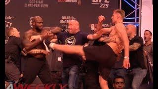 UFC 229 Ceremonial Weigh-In: Derrick Lewis & Alexander Volkov Come to Near Blows