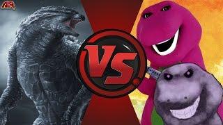 GODZILLA vs BARNEY.EXE! (Godzilla vs Creepypasta) Cartoon Fight Club Episode 141