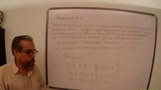 Física  Problema 6 UN PROBLEMA DE ÁLGEBRA EN LA FÍSICA.