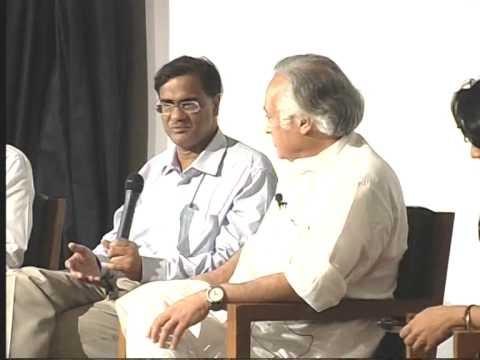 Mr Jairam Ramesh moderates the panel discussion