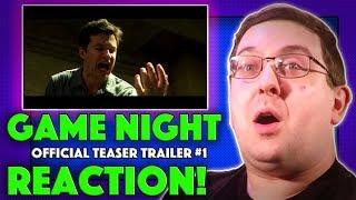 REACTION! Game Night Teaser Trailer #1 - Jason Bateman Movie 2018