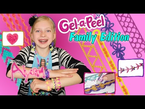 Gel A Peel DIY Craft Time 3D Sparkle Bead Design Station Making Earrings & Jewelry out of GEL