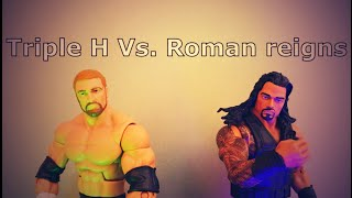 Triple H  Vs. Roman Reigns :  Falls Count Anywhere Match (StopMotion)