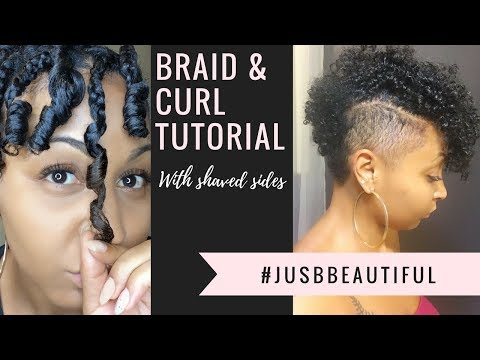 Xxx Mp4 How To Braid And Curl On Natural Hair With Shaved Sides 3gp Sex