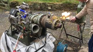 Test Run of Rolls Royce Artouste APU Engine