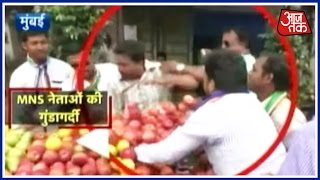 MNS workers attack North Indian hawkers in Ghatkopar