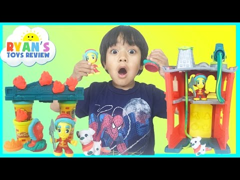 Xxx Mp4 PLAY DOH TOWN FIREHOUSE Toys For Kids Playdough Video Ryan ToysReview 3gp Sex