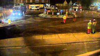Road works time lapse