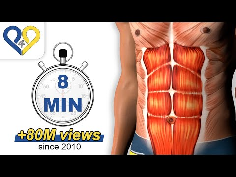 8 Min Abs Workout how to have six pack