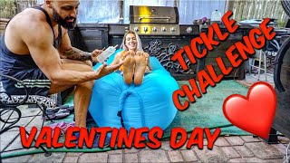VALENTINES DAY, tickle challenge with oils!!!
