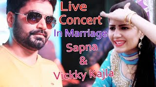 Live Concert In Marriage | Vickky Kajla With Sapna Chaudhary | Sonotek Haryanvi | English Medium