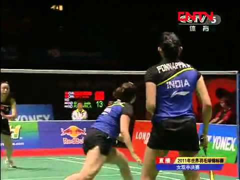 [2011 World Championships BXD-F] Tian Qing/Zhao Yun Lei vs Jwala Gutta/Ashwini Ponnappa [4]