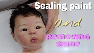 REBORN TUTORIAL: How to Varnish a Reborn Doll that has Rooted Mohair