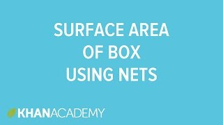 Surface area of a box using nets