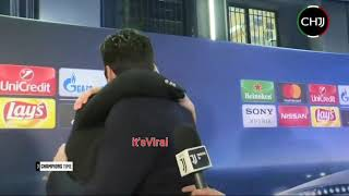 Cristiano Ronaldo abbraccia Buffon dopo la partita | Buffon about the referee - ABRAZO - HUG -