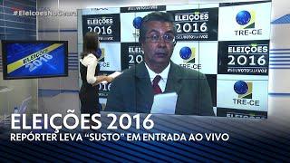 [HD] Repórter da TV Diário é surpreendido ao vivo (02/10/2016)
