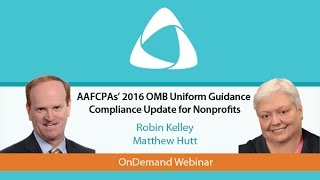 2016 OMB Uniform Guidance Compliance Update for Nonprofits
