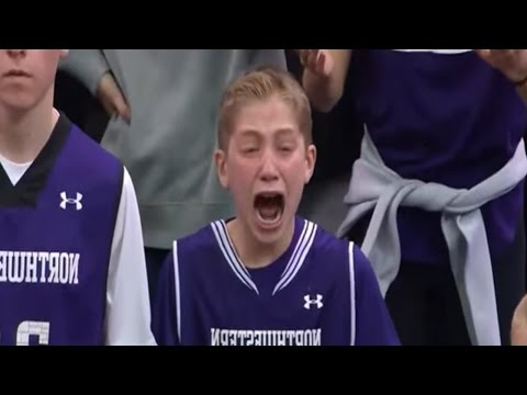 Crying Northwestern Kid Becomes Immediate NCAA Tournament Internet Sensation