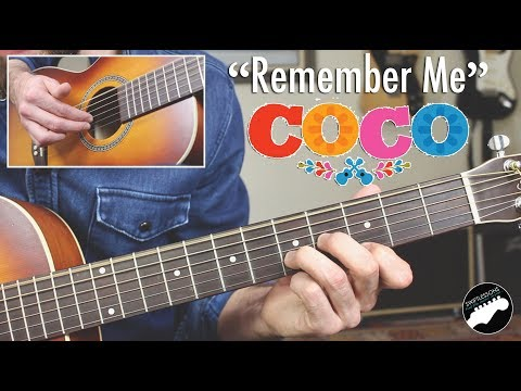 Xxx Mp4 How To Play QuotRemember Mequot Lullaby On Guitar From Disney39s Coco 3gp Sex
