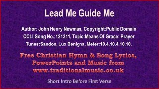 Lead Me Guide Me ~ Hymn Lyrics & Music