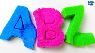 ABC Party|Learn the ABC Alphabet with Kinetic Sand|English Alphabet with Magic Sand