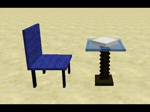 Как сделать кресло и стол в майнкрафт