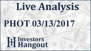 PHOT Stock Live Analysis 03-13-2017