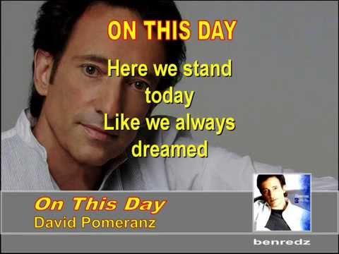 On This Day by David Pomeranz - karaoke version