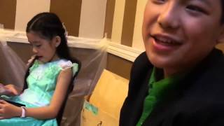 Darren, JK, Darlene and Lyca at the backstage