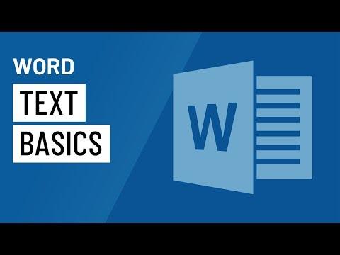 Word Text Basics