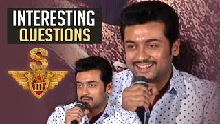Media Asks Interesting Questions To Suriya About Singam 3   TFPC