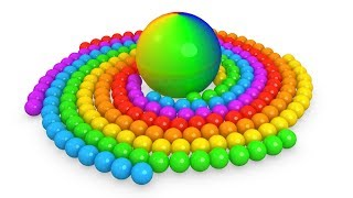 Learn Colors with 3D spiral balls video for kids