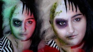 BEETLEJUICE / LYDIA DEETZ | Halloween Costume Makeup Tutorial | RawBeautyKristi
