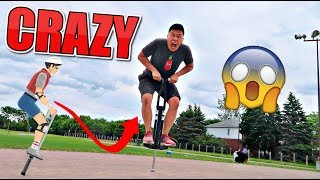 IMPOSSIBLE POGO TRICKS CHALLENGE!!! (VERY DANGEROUS) 😳