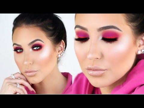 Trendy Hot Pink Smokey Eye Tutorial Jaclyn Hill