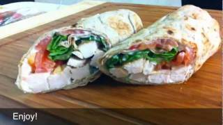 How to Make Healthy Chicken Wraps with Low Carb Flat Breads! Damascus Bakeries Flatbread Company