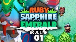 POKEMON RUBY SAPPHIRE & EMERALD SOUL LINK TRIPLELOCKE! - Choose Our Starters #01