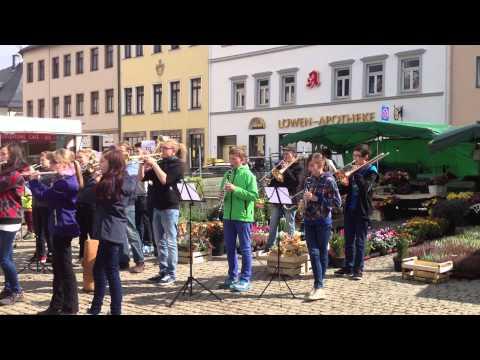 Flashmob Das Steigerlied in Annaberg Buchholz am 23.09.2014