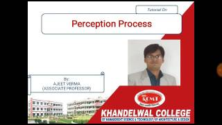 Perception Process Tutorial in hindi for MBA and BBA students of AKTU and Mjpru
