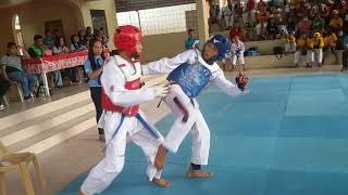 Taekwondo sparring Provincial meet Phillipines Tugegarao,Cagayan