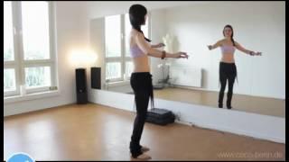کلیپ آموزش ابتدایی رقص عربی