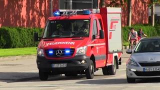 KLAF BF als FR + RTW RKT Regensburg im Berufsverkehr